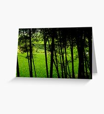 Grass through Trees Greeting Card