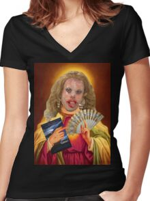 Drag Jesus Katya Women's Fitted V-Neck T-Shirt