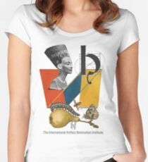 The International Artifact Restoration Institute. Women's Fitted Scoop T-Shirt