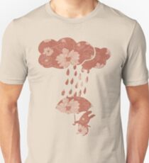 Song of the Rain (Floral pattern) Slim Fit T-Shirt