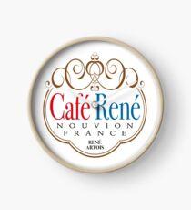 Café René logo Allo Allo Clock