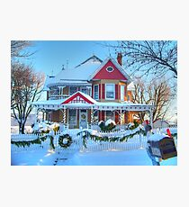 Christmas House Photographic Print