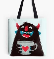 Demon with cup Tote Bag