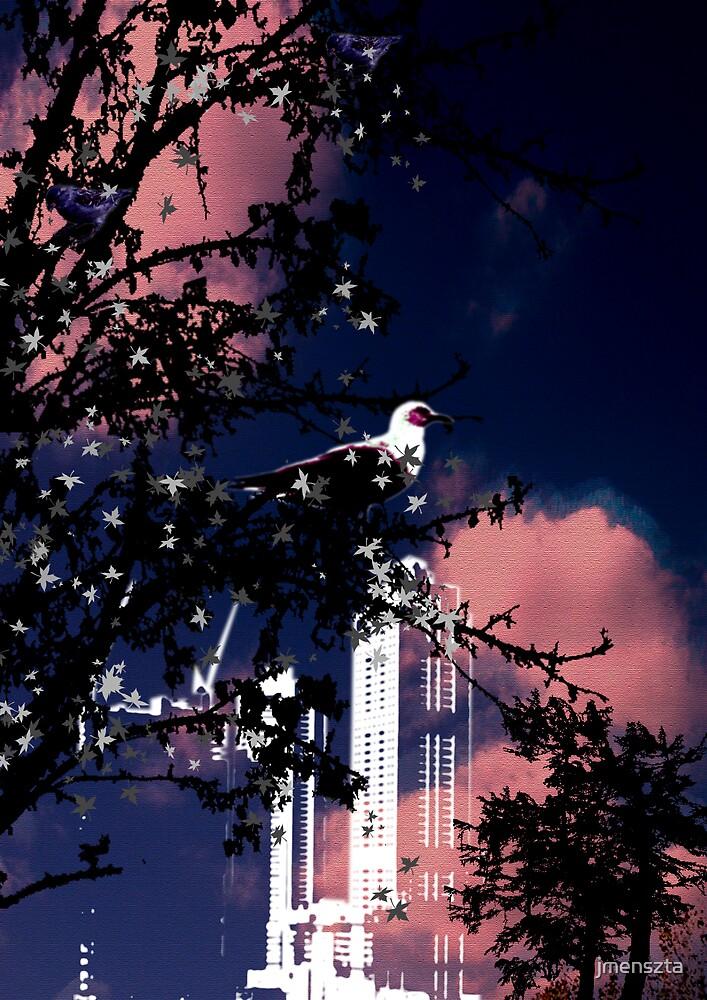 Bird in the city by jmenszta