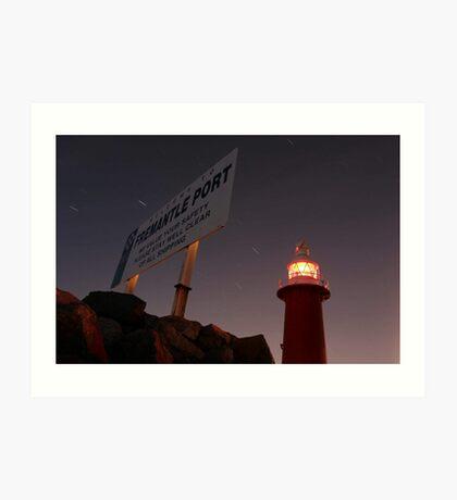 North Mole Lighthouse - Fremantle Western Australia  Art Print