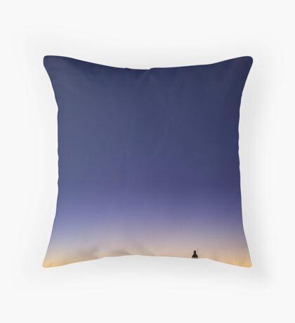 North Mole Lighthouse At Dusk  Throw Pillow