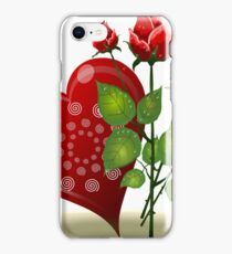 Flowers heart nature romance roses valentines iPhone Case/Skin
