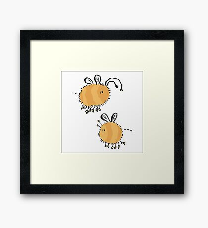 two bumblebees meeting Framed Print