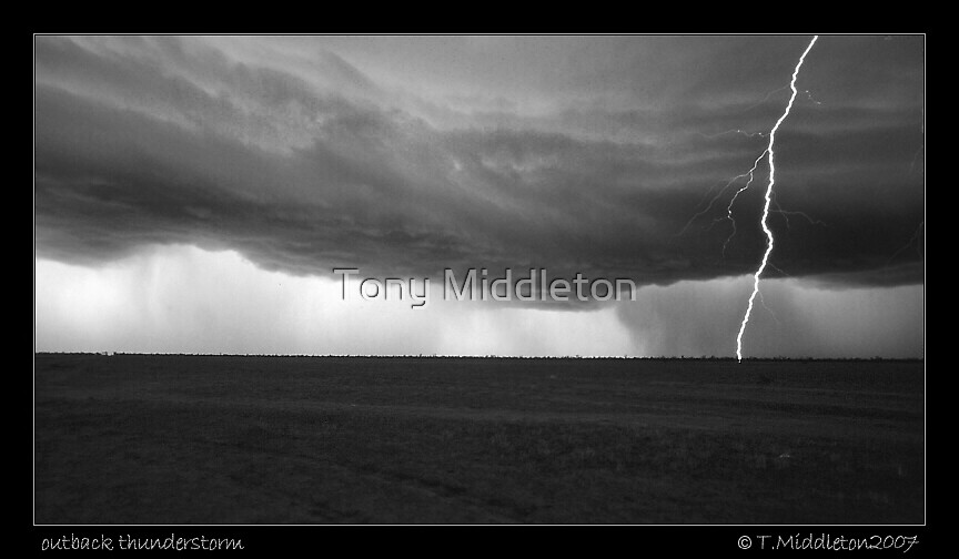 outback thunderstorm by Tony Middleton