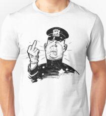 Policeman Flipping Off T-Shirt