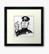 Policeman Flipping Off Framed Print