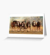 Six On The Hitch Greeting Card