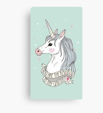 TUMBLR UNICORN Canvas Print