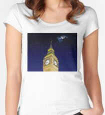 The ISS over the Big Ben Women's Fitted Scoop T-Shirt