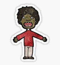 cartoon shocked boy Sticker