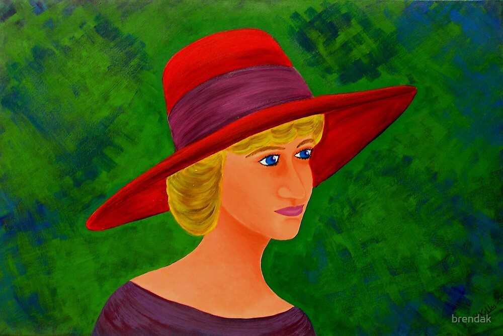 Lady with a red hat by brendak