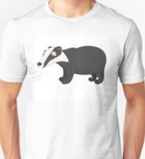 Friendly cartoon badger Unisex T-Shirt