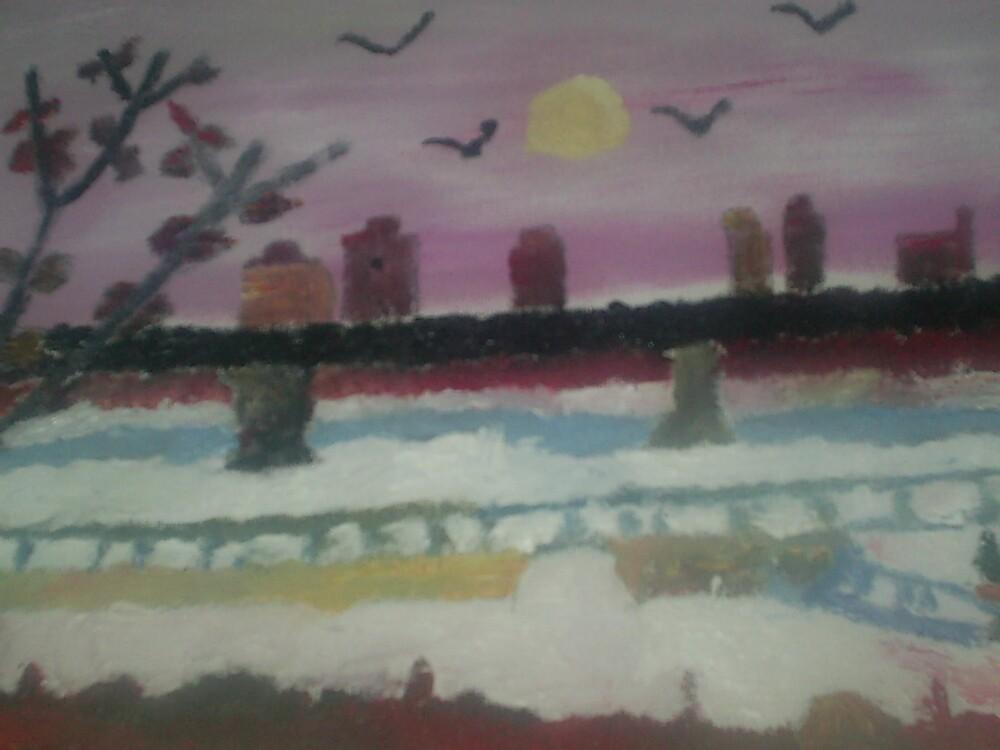 bridge painting by oilersfan11