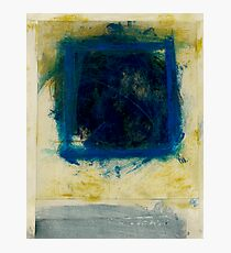 Abstract Blue Square Photographic Print