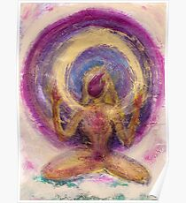 Abstract Enlightened Female Poster