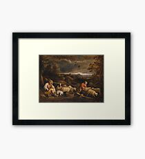 David Teniers The Younger - Shepherds And Sheep Framed Print