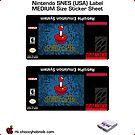 SNES Custom Cart Label - Pixel [Get the MEDIUM size] by ChoccyHobNob