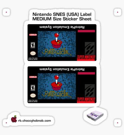 SNES Custom Cart Label - Pixel [Get the MEDIUM size] Sticker