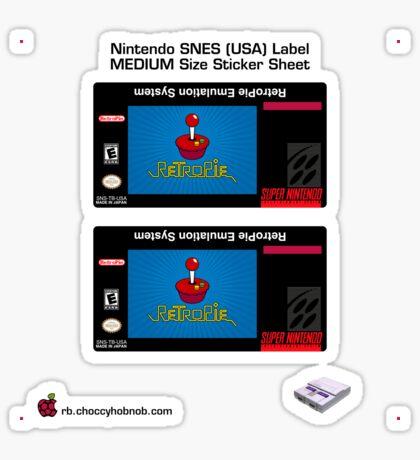 SNES Custom Cart Label - RetroPie [Get the MEDIUM size] Sticker