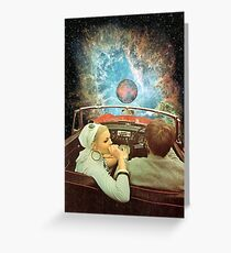 SPACE TRIP. Greeting Card
