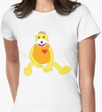 Sweet Hello from Flat E Womens Fitted T-Shirt