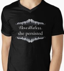Camiseta de cuello en V Ella persistió (beneficio de ACLU)