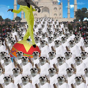 Trouble at the Taj Mahal by punkjunkie04