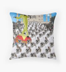 Trouble at the Taj Mahal Throw Pillow