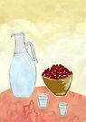 Jug and fruit. by John Douglas