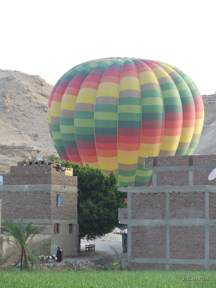 Early Morning Balloon over Luxor by JoLennox