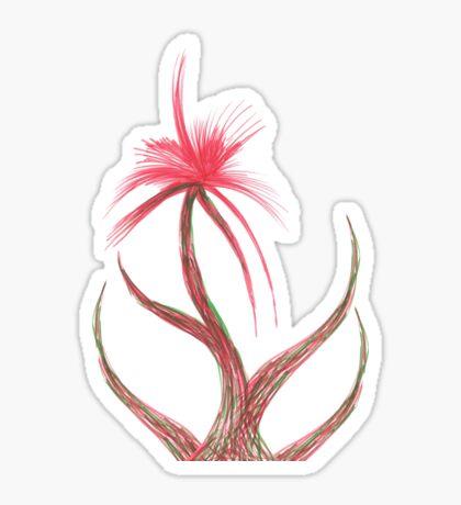 Ruby Flower Sticker