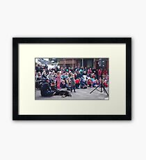 Entertaining the crowd Clunes Book Festival Victoria Framed Print