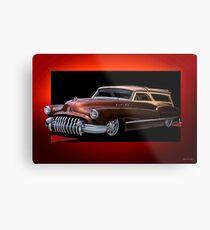1950 Buick Custom Woody Wagon Metal Print