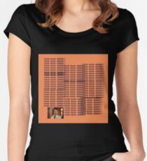 """Peep Show - """"Four Naan Jeremy?"""" Life of Pablo Cover Women's Fitted Scoop T-Shirt"""