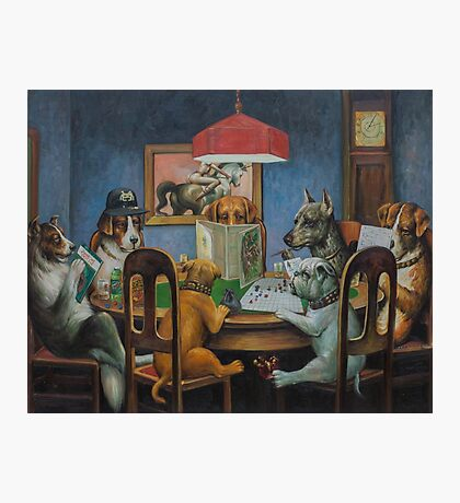 Dogs Playing D&D Photographic Print