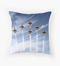 The US Air Force Thunderbirds Throw Pillow