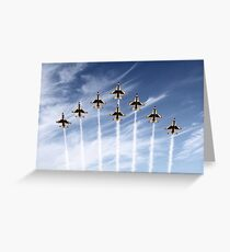 The US Air Force Thunderbirds Greeting Card