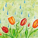 Tulips and Raindrops by Bloomtown