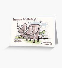 Elephant birthday card Greeting Card