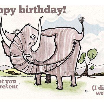 Elephant birthday card by dotmund