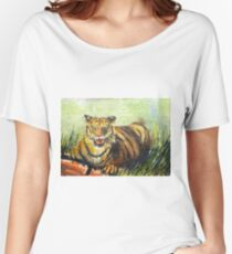 Wild Tiger In Forest Women's Relaxed Fit T-Shirt