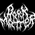 Metall-Logo der dunklen Materie von creepycrawler