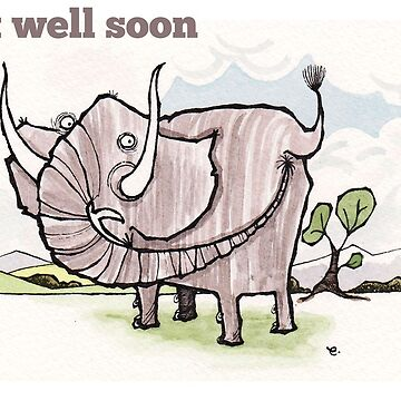 Elephant get well card by dotmund