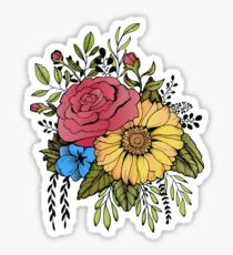 SUNFLOWER & ROSE Sticker