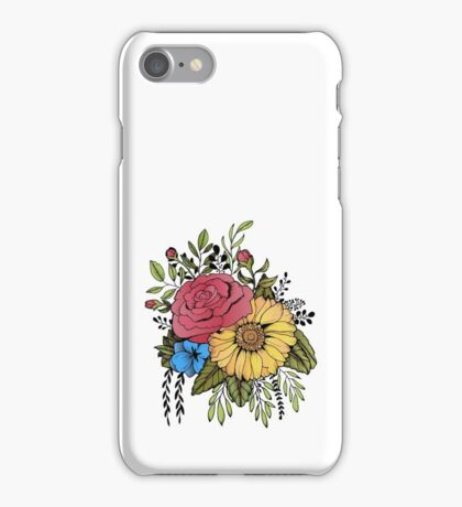 SUNFLOWER & ROSE iPhone Case/Skin